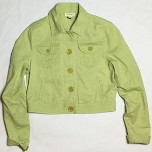 Harold's Chartreuse Green Cropped Jean Jacket